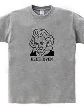 ベートーベン BEETHOVEN イラスト 音楽家 偉人アート