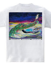 ワニ Tシャツ_Rainbow Wave 2019 Summer