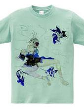 青の金魚姫 和柄 キモノガール