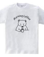 モーニングコーヒー クマ 熊 動物イラスト