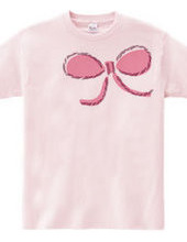 つぶやくもん!リボンTシャツ(ピンク)