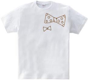 つぶやくもん!大人可愛いリボンTシャツ
