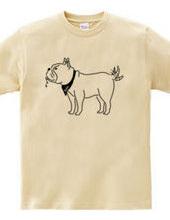 フレンチブルドッグ しっぽをふる 犬 動物イラスト