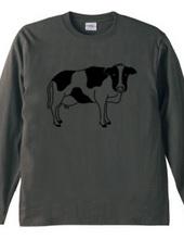 牛が見てる ウシ 動物イラスト