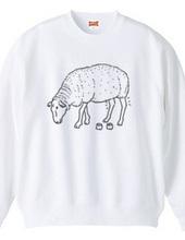 白ヒツジ -Summer Fashion- 羊 動物イラスト