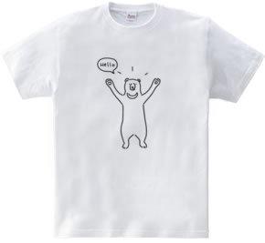 Hello bear ハロークマ 動物イラスト