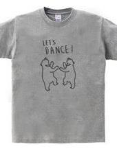レッツダンス 熊 動物イラスト