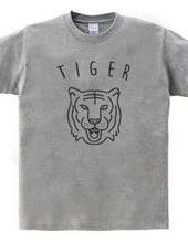 タイガー 虎 動物イラスト