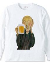 ビールでほろ酔い ムンクの叫び