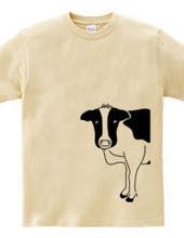 牛が見てる 動物イラスト 大