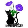 Cat Mata and Morning Glory, Black