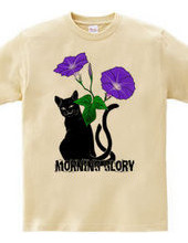 猫又と朝顔・黒
