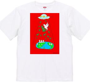 ©️仔羊エルマー 核なき世界 T-シャツ C-type