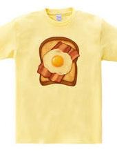 ベーコンエッグトースト