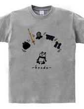 剣道 パンダと防具