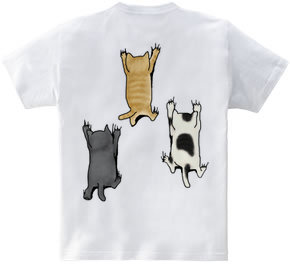 【バックプリント】 登ってくる猫たち