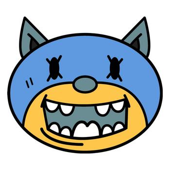 Wolf Kun blue