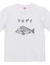 Blackfish Illustration of The Black Rose Chinu Fishing A