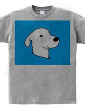 青の中の犬