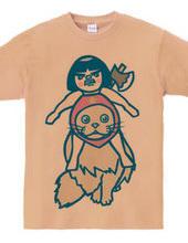 金太郎人形猫