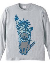 自由の女神猫
