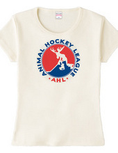 アイスホッケー AHL アニマル ホッケー リーグ ロゴ Tシャツ
