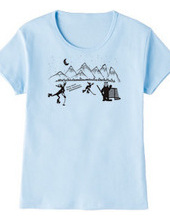 アイスホッケー ノースアメリカン シュート Tシャツ