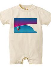 ボストンテリア サーフ ラウンドハウス カットバック Tシャツ