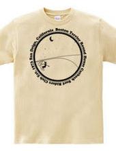 ボストンテリア サーフ ラウンドハウス カットバック(モノクロ)Tシャツ