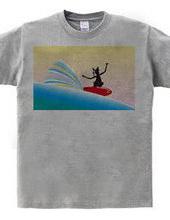 ボストンテリア サーフ スタイルマスターTシャツ