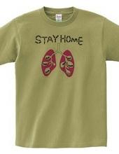 働きアリと肺のSTAY HOME T-シャツ 黄色のみ