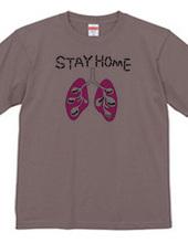 働きアリと肺のSTAY HOME T-シャツ