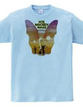 ボストンテリア Ice Hockey Wars(アイスホッケーウォーズ)Tシャツ