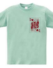 TPトランプ胸プリTシャツ