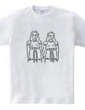 双子の少女 イラスト