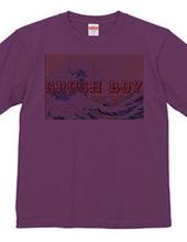 波ロゴTシャツ
