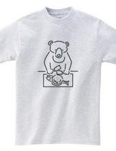 お好み焼き クマ イラスト2