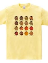 スパイスを並べたTシャツ