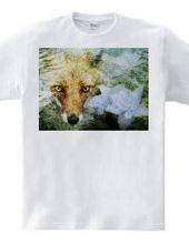 狐と紫陽花