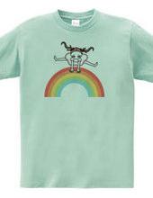 虹をジャンプ