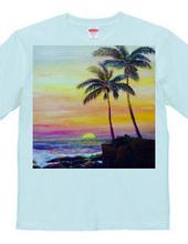 ハワイの風景  油絵