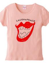 Laugh & peace ロゴTシャツ