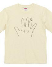hand girl