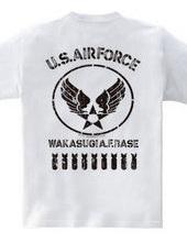USエアフォース 5 ビンテージ風加工(バックプリント)