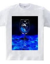 feather Wine/羽根のワイン/青色