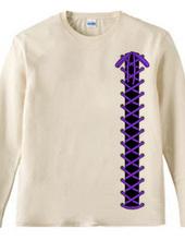 紫色編み上げ/lace-up/ゴシック風