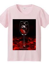 feather Wine/羽根のワイン/赤色