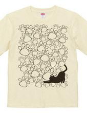 肉球いっぱい猫シルエット