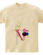 ピアノドレスとブルーベリーウサギ