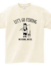 釣り人とバケツ